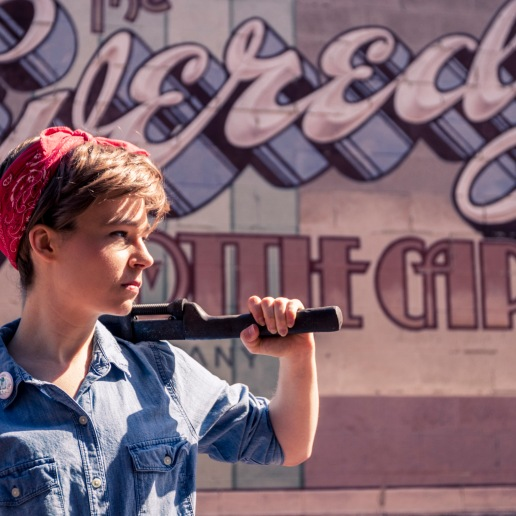 Rosie the Riveter cosplay | Photo credit: Jeff Stanford